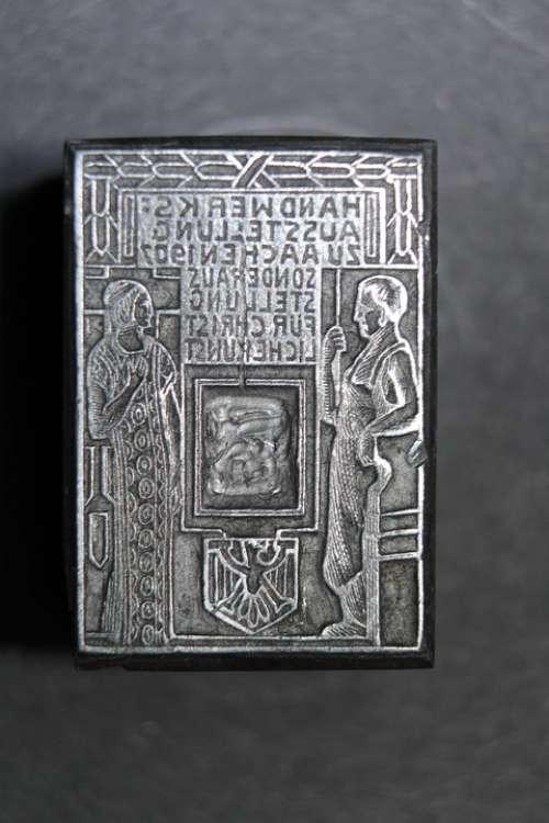 Johannes Gutenberg Printing Hand Piecing Letter