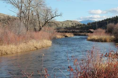 John Day River Eastern Oregon Water Blue Fall