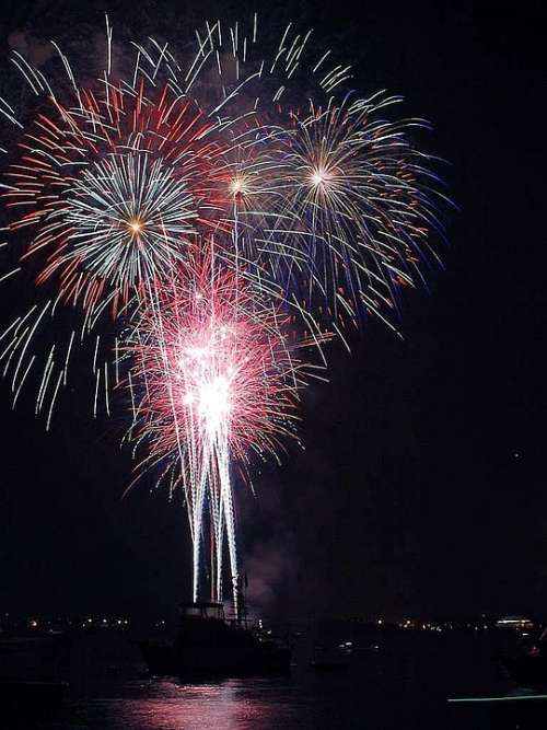 July Fourth Bay Diego Fireworks