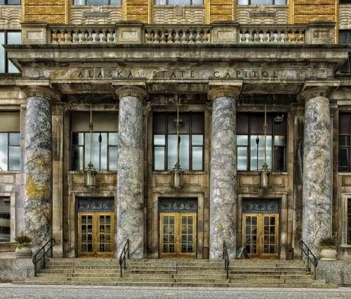 Juneau Alaska Capitol Building Architecture Columns