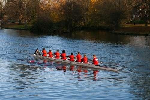 Junior Oarsmen Rowing Boat Rowing Sports Activity