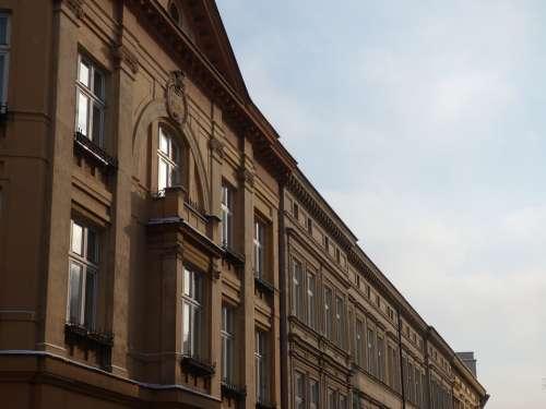 Kamienica Monument Kraków Shutters Old Façades