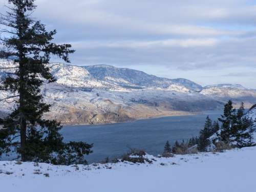 Kamloops Lake British Columbia Canada Winter