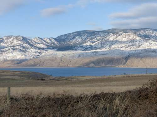 Kamloops Lake British Columbia Canada Winter