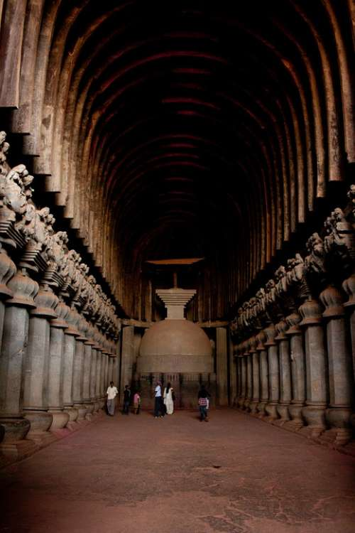 Karla Caves India Buddhism Caves Stone Carvings