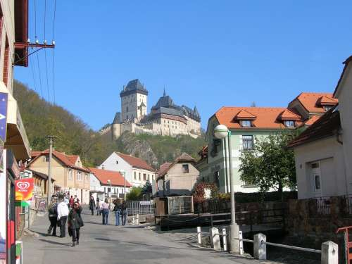 Karlstein Street Prague Castle View Tourism