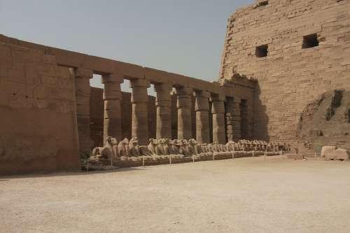 Karnak Luxor Temple Pharaohs Egypt Old Imposing