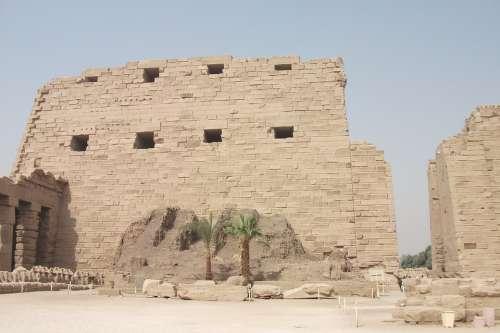 Karnak Temple Egypt Desert Building Stone Old