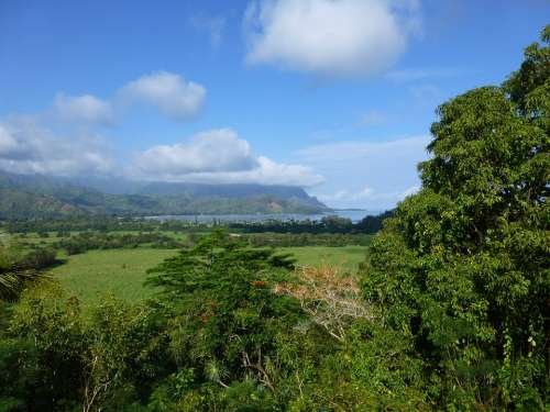 Kauai Hanalei Hawaii Farm Land Countryside