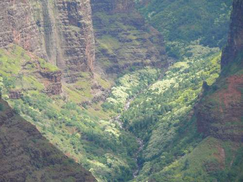 Kauai Hawaii Island Nature View Canyon Weimea