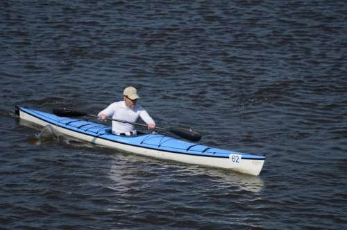 Kayak Rafting Canoe Man Boat Adventure