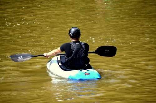 Kayaker Kayak Boat Water Sport Recreation Boater