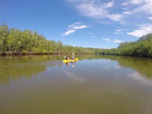 Kayaking Nature Beautiful Tropical Travel Sea Sun