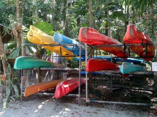 Kayaks Color Kayaking Sport Outdoors Leisure