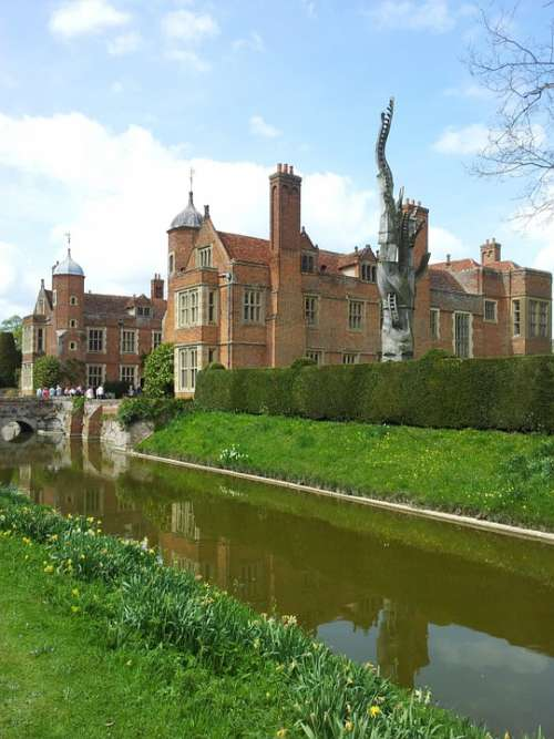 Kentwell Hall Mansion Stately Home Moat Structure
