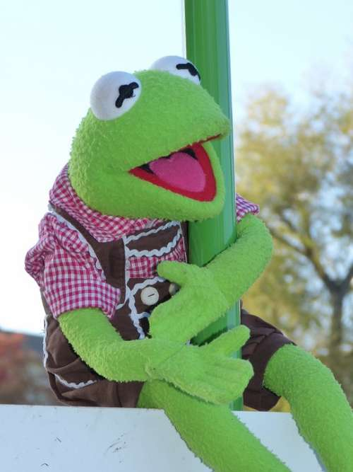 Kermit Frog Doll Costume Leather Pants