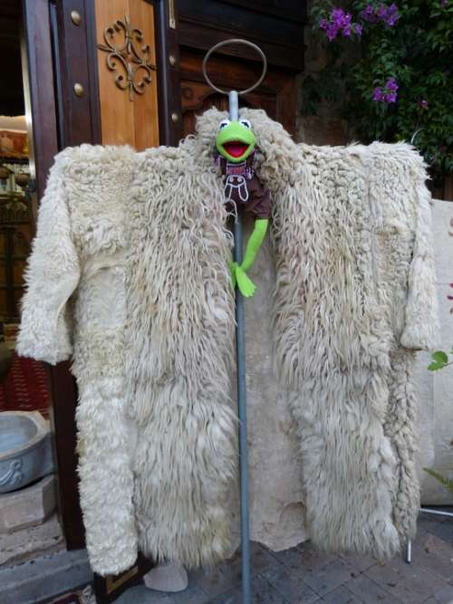 Kermit Frog Coat Anziee Large Fur