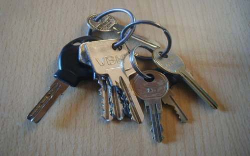 Key Keychain Shut Off House Keys Door Key