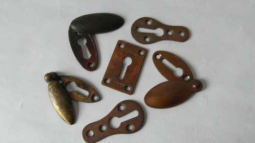 Key Covers Keyholes Escutcheons Brass Vintage