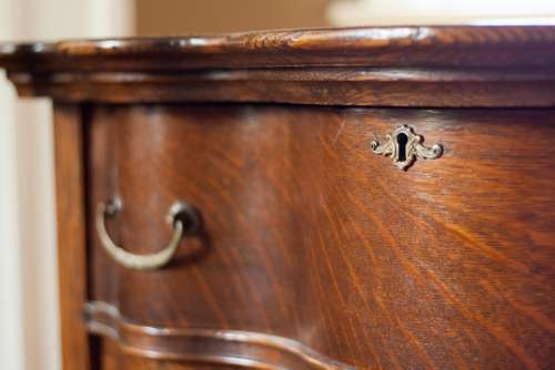 Key Hole Dresser Antique Wood