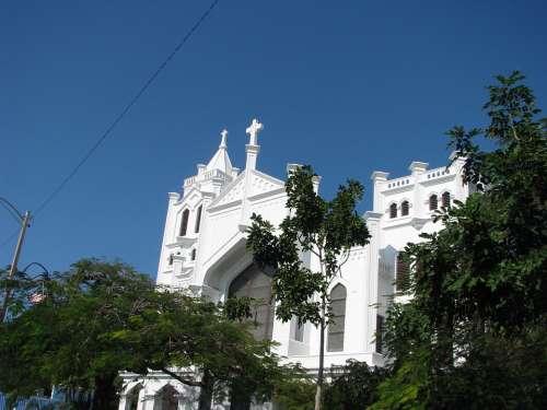 Key West Church Key West Architecture Landmark