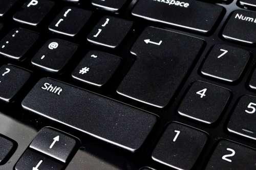 Keyboard Close-Up Modern Laptop Key Alphabet Row