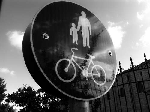 Kid Father Bicycle Bicycles Bikes Bike