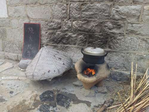 Kitchen Cooking Stove Fireplace Hearth Burning