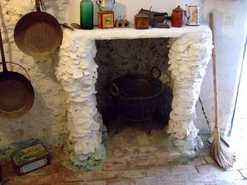 Kitchen Cave Sacromonte Granada Andalusia Spain