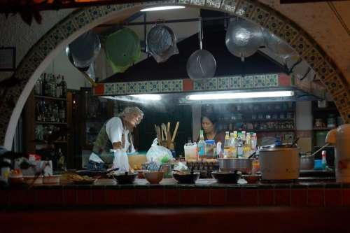 Kitchen Thailand Food Thai Cuisine Cooking