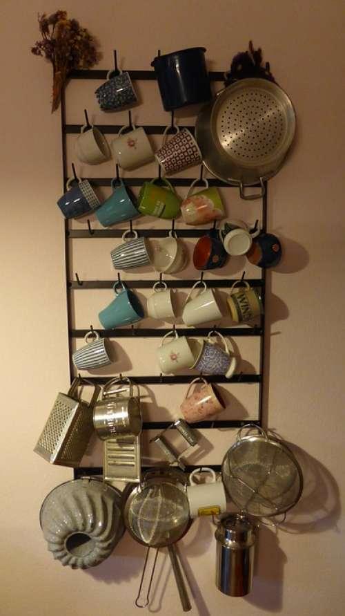 Kitchen Shelf Shelf T Kitchen Country House Cup
