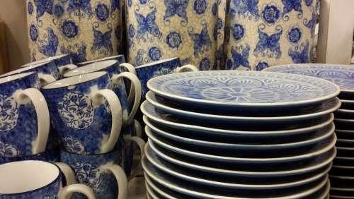 Kitchenware And Tableware Blue Shop Live Interior