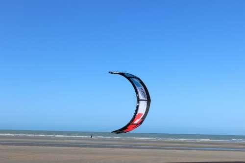 Kite Surfing Sailing Beach Sea