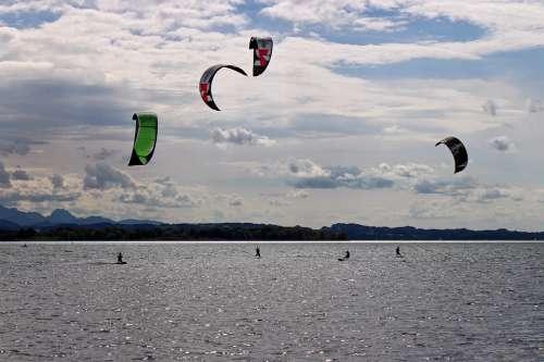 Kite Surfing Surf Kitesurfing Kitesurfer Sport