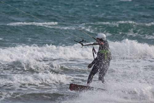 Kitesurfer Kite Surfing Kiters Kitesurfing
