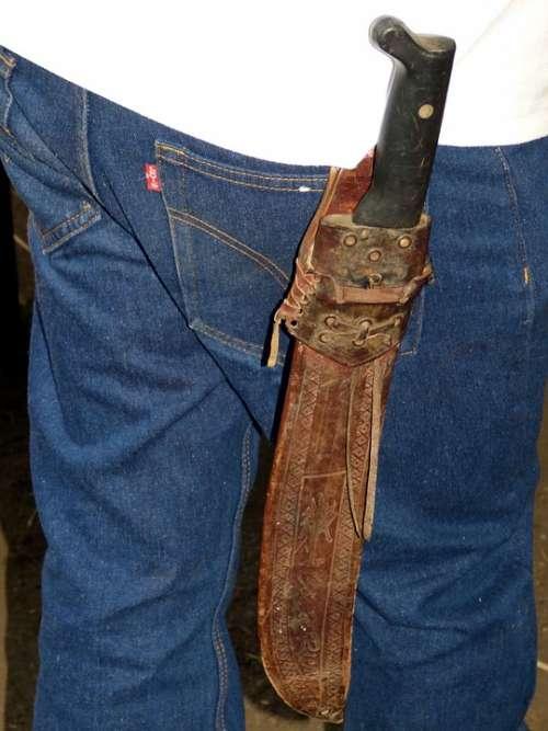 Knife Vagina Dagger Bauer Farmer Pants Jeans