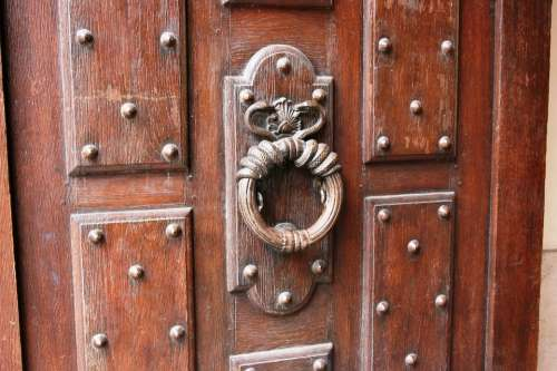 Knocker Door Wooden Door Entry
