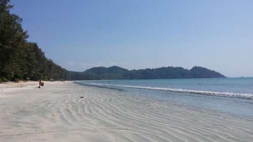 Ko Payam Beach Sand Sea Water Wave Vacations