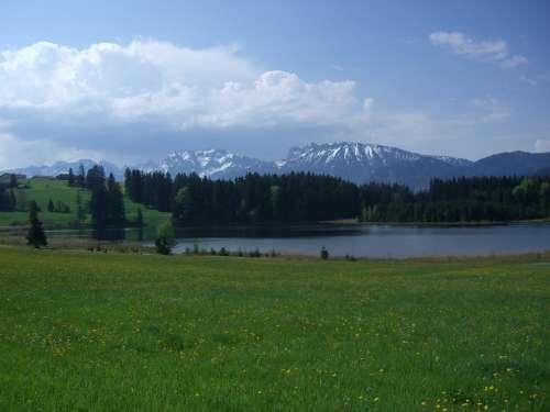 Koeglweiher Allgäu Mountain Panorama