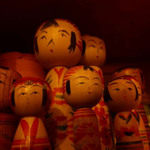 Kokeshi Dolls Wood Crafts Toys
