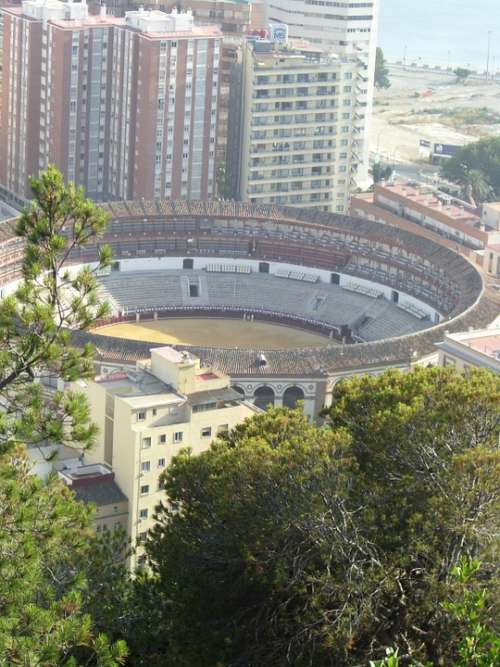 Koloseum Arena Bull Fighting Malaga Spain Port