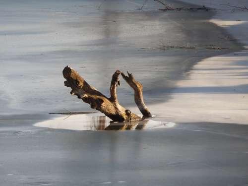 Konar River Ice Winter