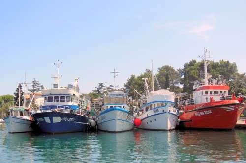 Krk Port Croatia Island Of Krk Ships Sea Water