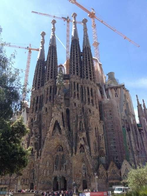 La Sagrada Familia Gaudí Cathedral Dome Church