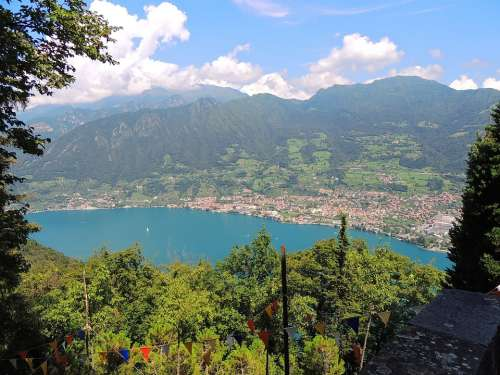 Lago Diseo Nature Water Italy Landscapes Island