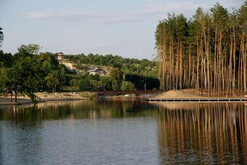 Lagoon Krasnobrod View Landscape Water