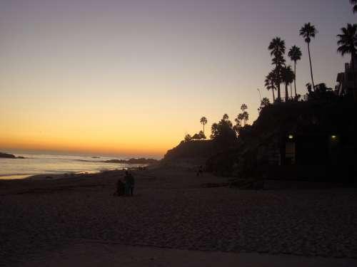 Laguna Beach California Sunset Coastline Ocean
