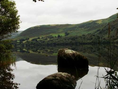 Lake Mirroring Landscape Eng Long Lakeland