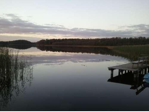 Lake Landscape Ship Water