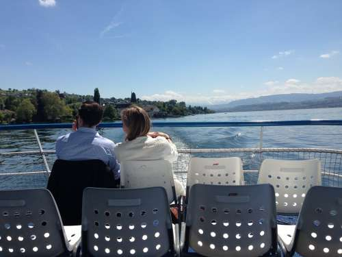 Lake Love Zurich Romance Pair Boat Water Travel